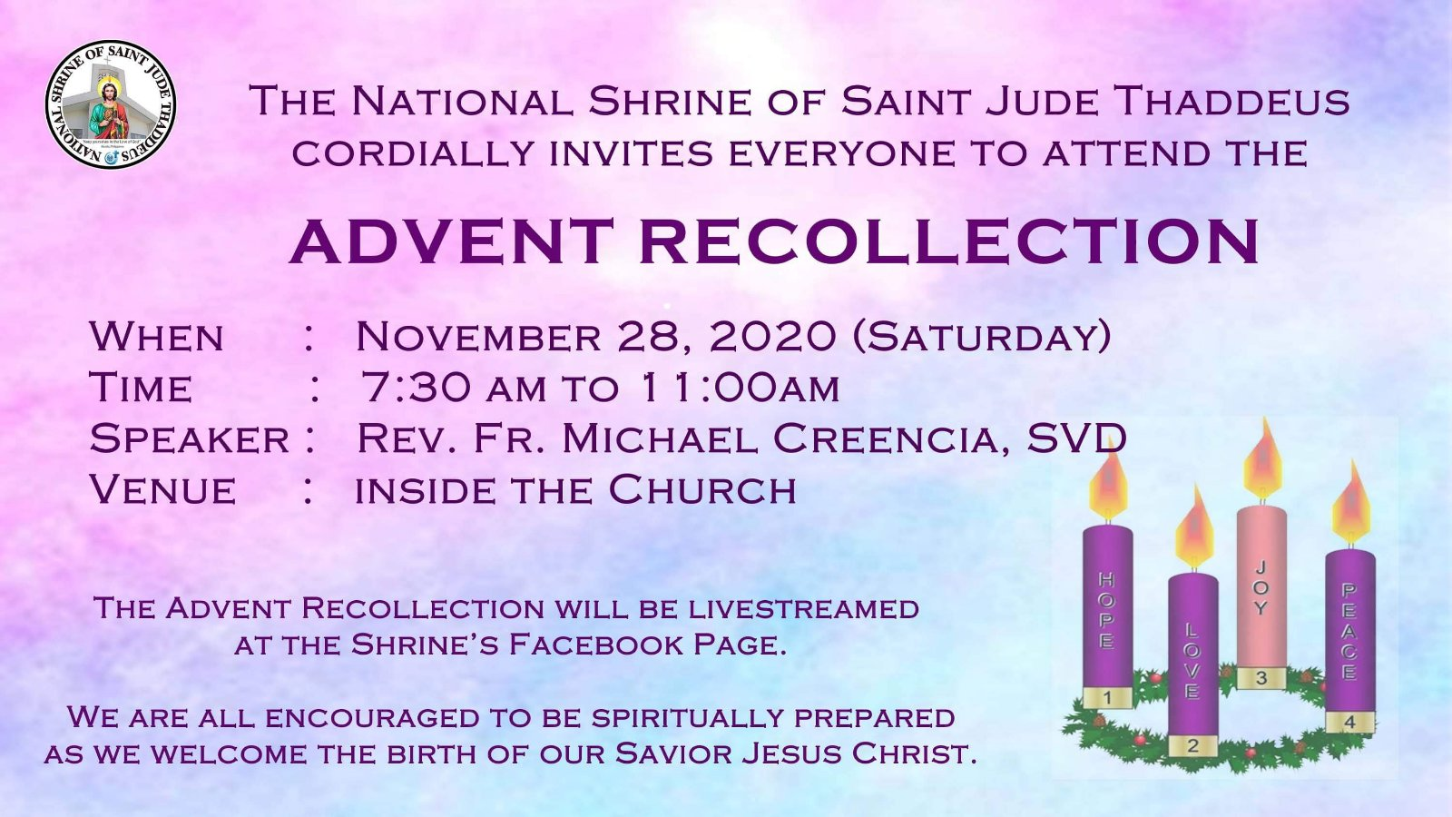 2020 Advent Recollection