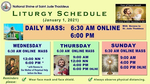 New Mass Schedules by Jan. 2021